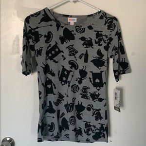 Lularoe Grey Alice in wonderland T-shirt